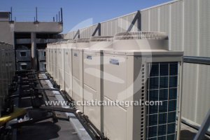 Acoustic barrier: HVAC on deck